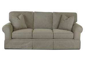 Woodwin Stone Gray Stationary Fabric Sofa