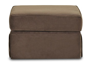 Woodwin Brughes Chocolate Ottoman