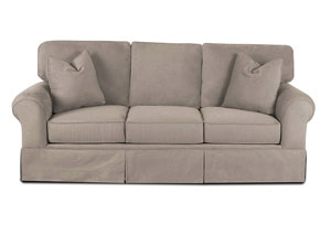 Woodwin Willow Smoke Brown Stationary Fabric Sofa