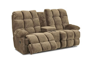 Brownsville Mocha Power Reclining Loveseat w/ Console