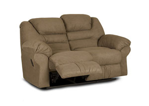 Contempo Brown Power Reclining Loveseat