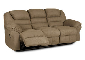Contempo Brown Power Reclining Sofa