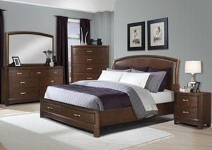 Eclipse Queen Bed, Dresser, Mirror & Chest