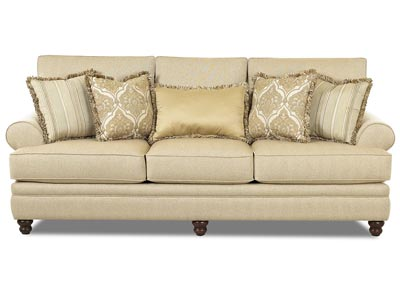 Darcy Milan-Straw Stationary Fabric Sofa