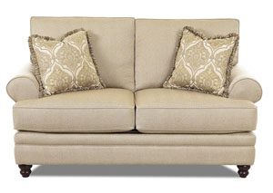 Darcy Milan Straw Stationary Fabric Loveseat