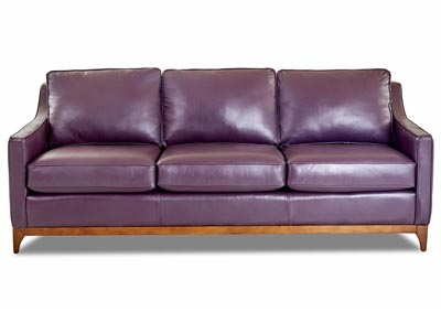 Anson Leather Stationary Sofa