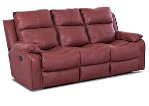 Castaway Durango Strawberry Power Reclining Leather U0026 Vinyl Sofa