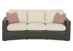 Cassley White Stationary Fabric Sofa