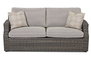 Cascade Gray Stationary Fabric Sofa