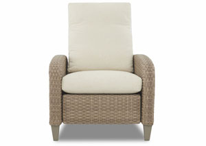 Belmeade Coleman Vanilla White Reclining Fabric Chair
