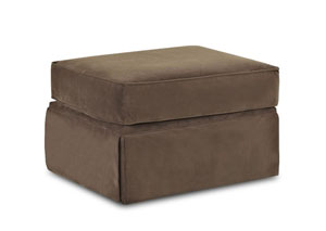 Woodwin Chocolate Ottoman