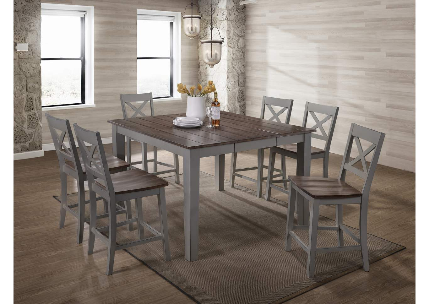 5059 A La Carte Grey 2-Pack Dining Chair,Lane Furniture