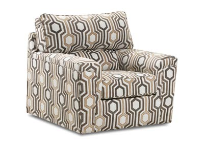 Image for Dante Almond Gray Accent Swivel Chair