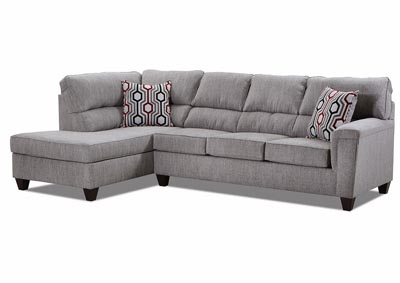 Image for Dante Almond Gray Stationary Sectional