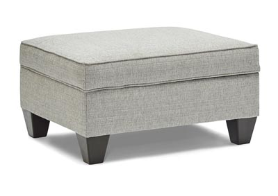Image for Dante Tweed Gray Storage Ottoman