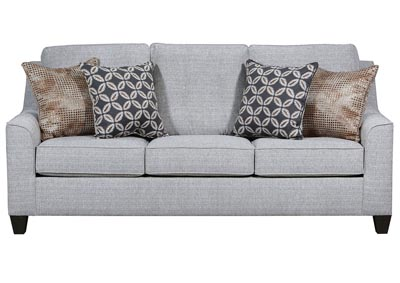 Dante Tweed Gray Stationary Sofa