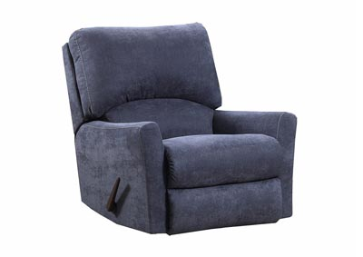 253 Blue Power Recliner