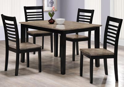 East Pointe 5-Piece Two-Tone Dining Set
