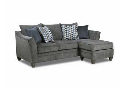 Image for Blue Sofa with Chaise