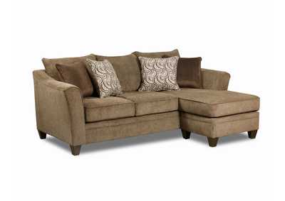 Image for Brown Sofa with Chaise