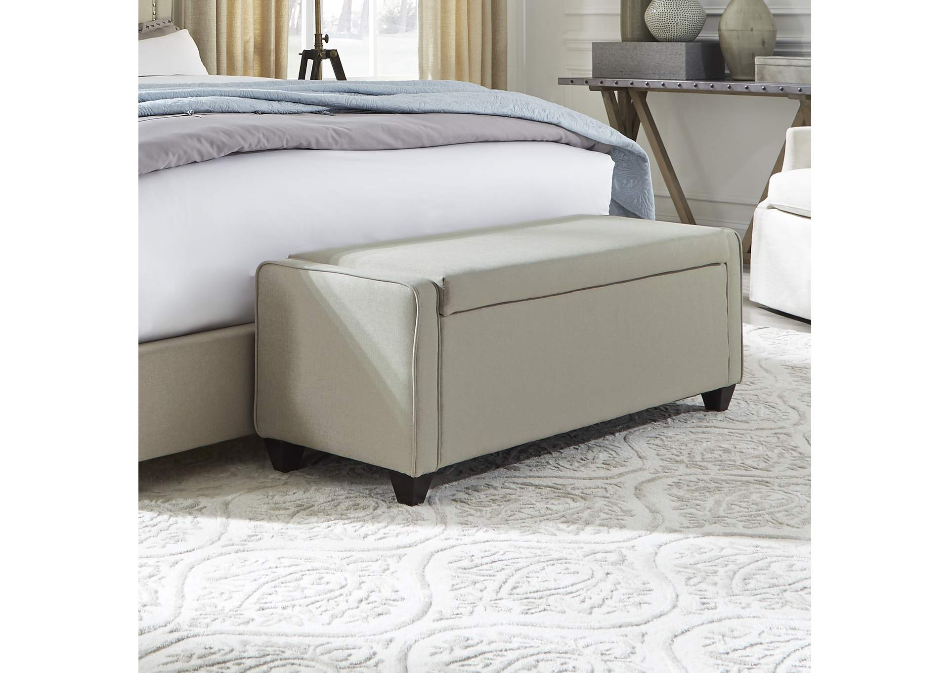 Upholstered Bed Bench (RTA),Liberty