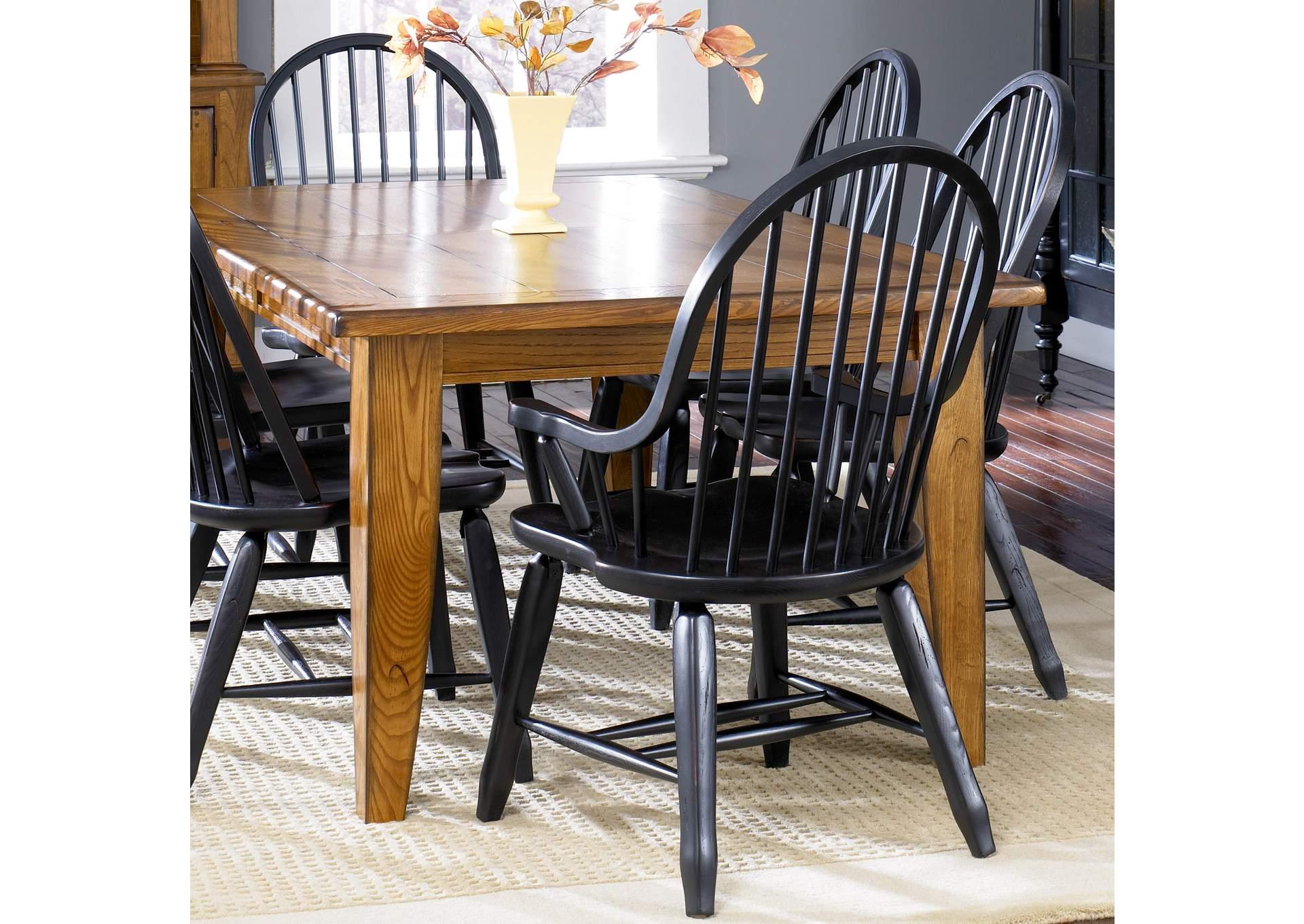 Country House Furniture Treasures Oak Rectangular Leg Table ...