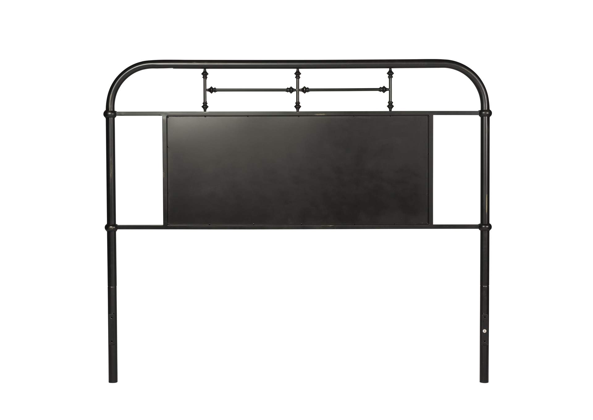 Vintage Series Black Metal Queen Headboard,Liberty