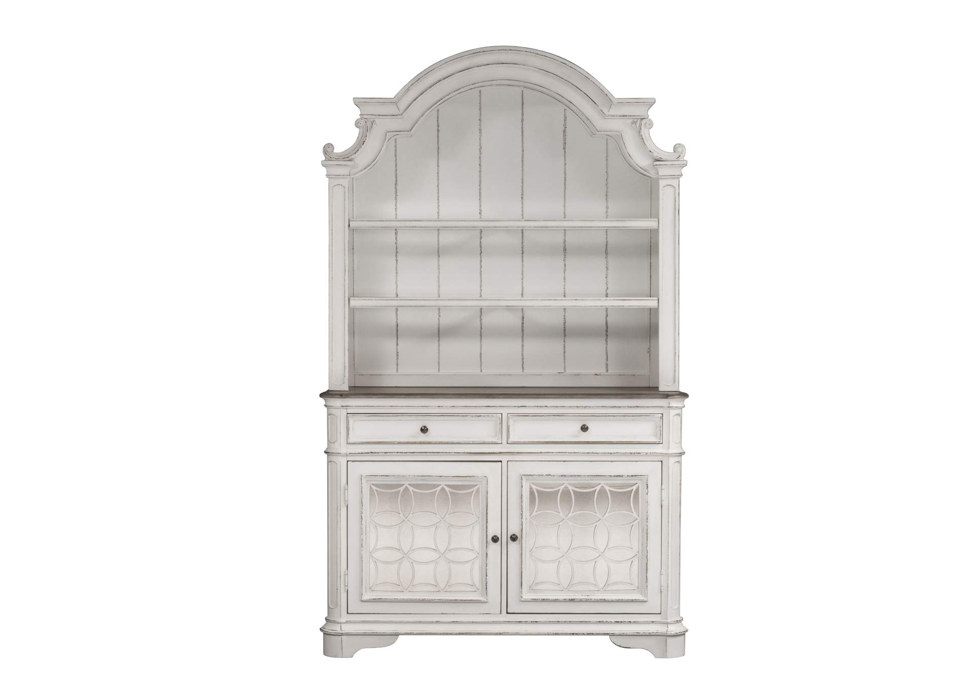 Magnolia Manor White China Cabinet,Liberty