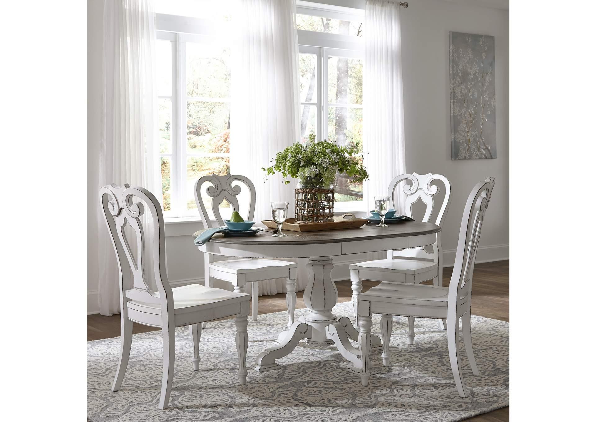 Salmon\'s Furniture Magnolia Manor Antique White 5 Piece ...