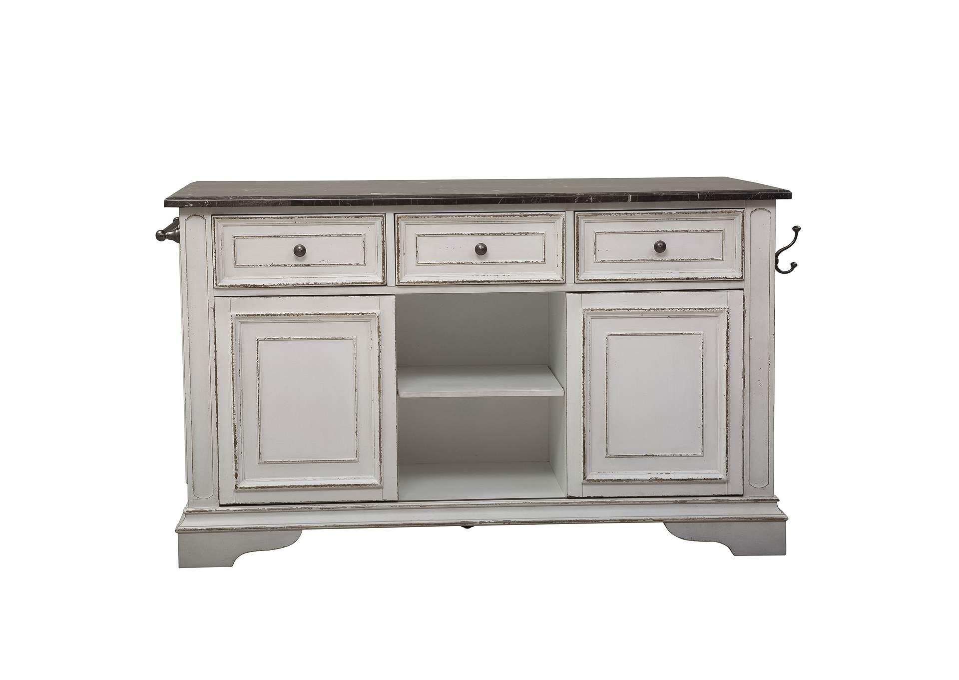 Jesup Furniture Outlet Magnolia Manor White Kitchen Island ...