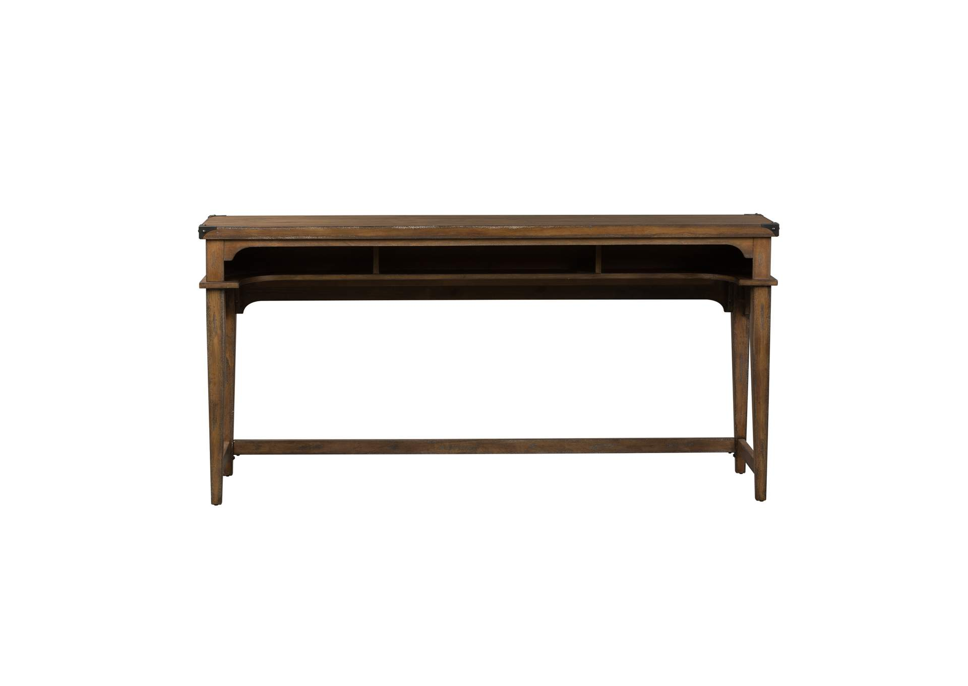 Aspen Skies Brown Console Bar Table,Liberty