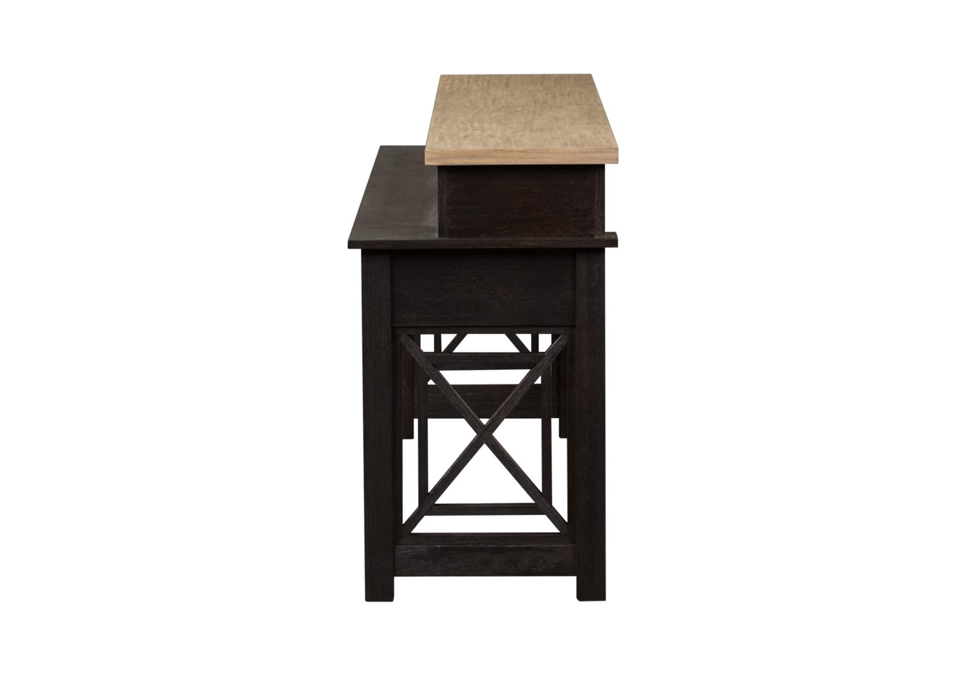 Heatherbrook Charcoal Console Bar Table,Liberty