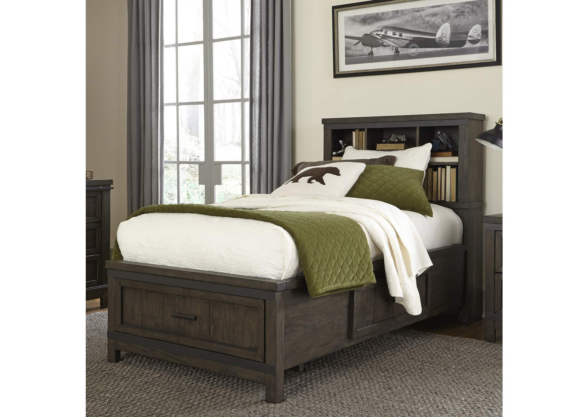 Hornell Furniture Outlet Thornwood Hills Gray Twin Storage