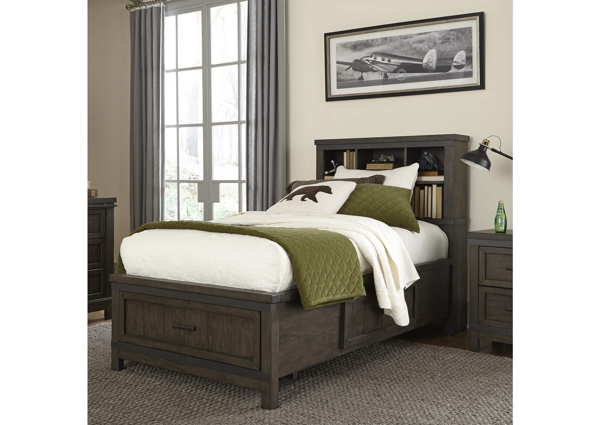 Hornell Furniture Outlet Thornwood Hills Gray Full Storage