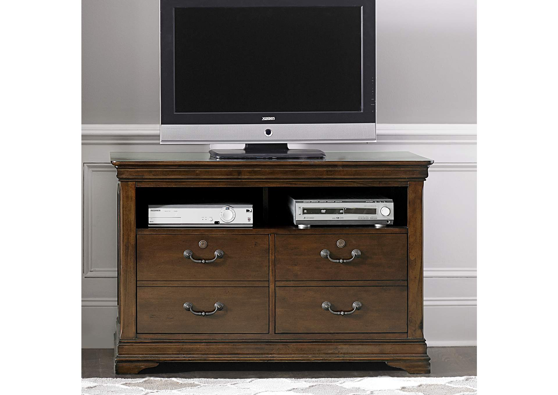 Chateau Valley Media File Cabinet,Liberty