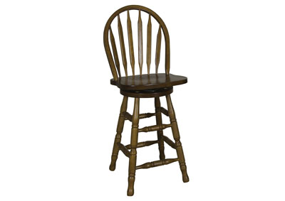 Nostalgia 24 Inch Arrow Back Barstool
