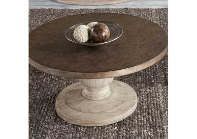 Alamosa Light Gray/Copper Round Cocktail Table,Liberty