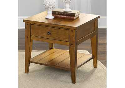 Lake House Oak End Table