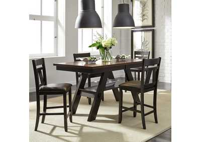Lawson Gathering Table w/4 Splat Back Counter Chairs