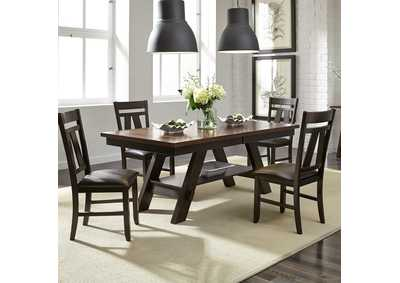 Lawson Pedestal Table w/4 Splat Back Side Chairs