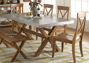 Keaton Trestle Table w/4 X Back Side Chairs