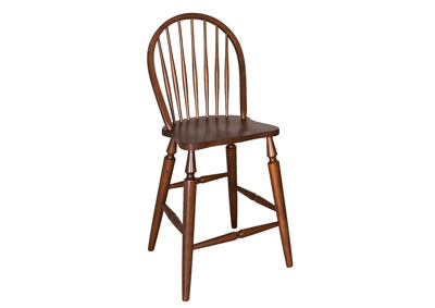Cabin Fever Windsor Back Barstool (Set of 2)