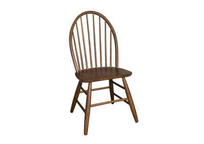 Image for Farmhouse Weathered Oak Windsor Back Side Chair