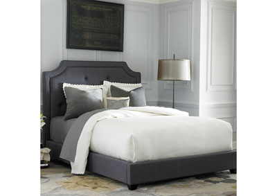 Upholstered King Sloped Panel Bed