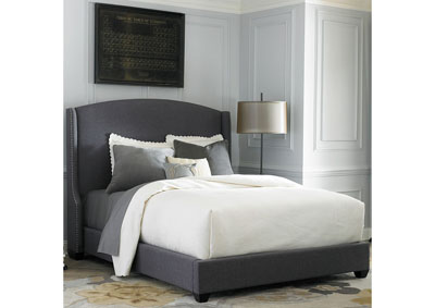 Upholstered Queen Wing Shelter Bed