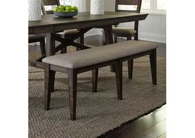 Image for Double Bridge Dark Chestnut Bench (RTA)