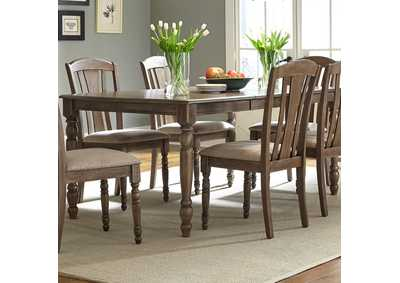 Candlewood Weathered Grey Rectangular Leg Table