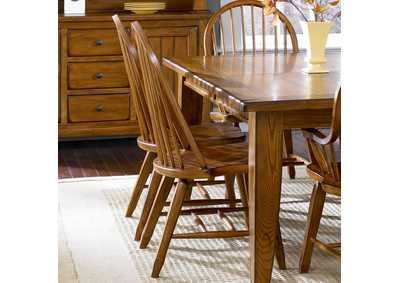 Image for Treasures Rustic Bow Back Side Chair - Oak