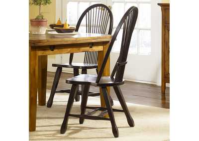 Image for Treasures Rustic Sheaf Back Side Chair - Black