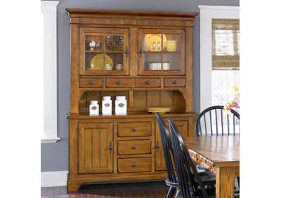 Treasures Oak Buffet w/Hutch